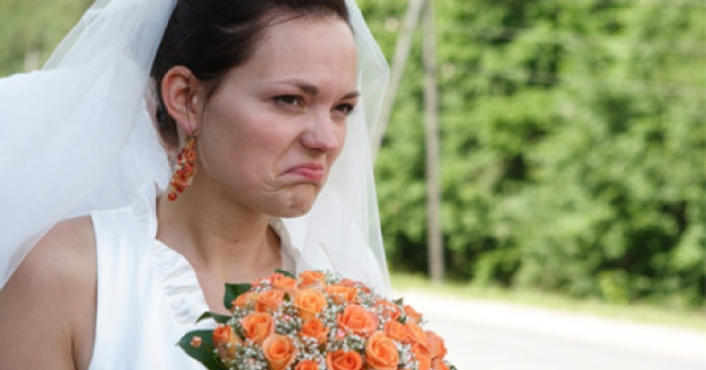 angry bride accuses a waitress of flirting with her